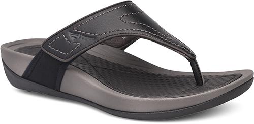 efa0a821b8f Dansko Katy 2 Thong Sandals  Black Smooth Leather
